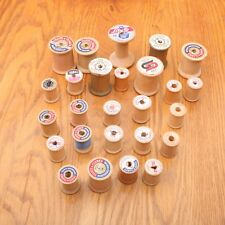 26 Wood Thread Spools Vintage Empty Large & Small
