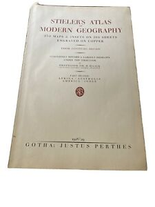 Stieler's Atlas Of Modern Geography 2 Volumes 10th Ed 1928 254 Maps And Inserts