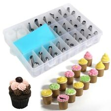 36PC Icing Nozzles Set Pastry Bag Piping Tips Adapter Cake Kit Stainless Steel