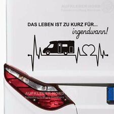 Herzschlag Wohnmobil Das Leben 60cm Spruch Auto Aufkleber Heck Camper Urlaub B49