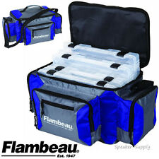 Flambeau Graphite 500 Blue Duffle Bag Soft G500B Fishing Tackle Box Tuff 6189TB