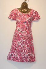 BODEN GENUINE LINED 100% COTTON SHIFT DRESS VGC 16 -18 GORGEOUS BOW DETAIL