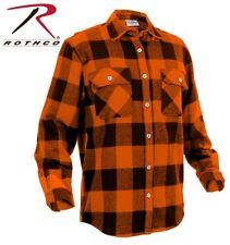 Rothco Extra Heavyweight Buffalo Plaid Flannel Shirts Regular XL Orange