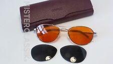 Oliver Peoples Aero Silver 57mm Fight Club Tangerine lenses Case Brad Pitt New