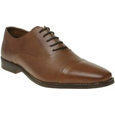Mens Red Tape Stanton Tan Real Leather Lace up Wedding Formal Oxford Shoes UK 10