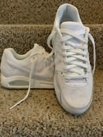 MEN'S NIKE AIR MAX COMMAND TRIPLE WHITE RUNNING SHOES SIZE 10 WORN ONCE