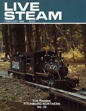 Live Steam V22 N 2 February 1988 Tom Rhodes' Fitchburg Northern No.34