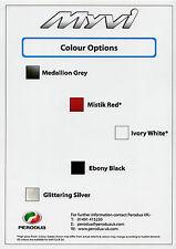 Perodua Myvi Exterior Colours 2010 UK Market Leaflet Brochure EZi SXi