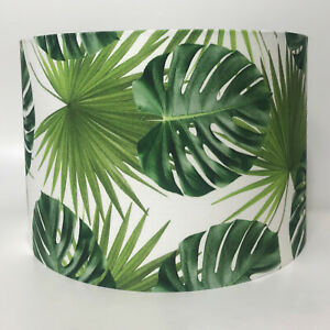 Cheese Plant Palm Leaf  Tropical Leaves Fabric Ceiling Light Shade or Lampshade