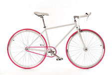 "WOO HOO BIKES - PINKY 19"" - Fixed Gear Bicycle, Fixie, One Gear, Track Bike"