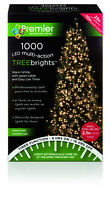 Premier Christmas Tree Brights With Timer Warm White 1000 MA LED Lights