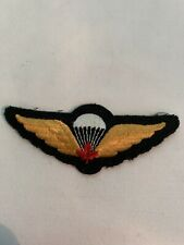 Canadian Army Jump Wings Uniform Patch Badge
