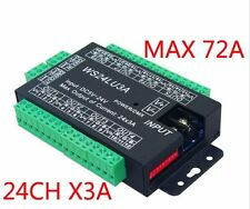 24CH Easy dmx 512 decoder LED dimmer Controller RGB DMX decoder 3CH X 8Group 3A