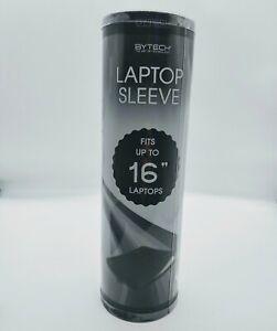 "Laptop Sleeve Bytech. Fits up to 16"". New. Black"