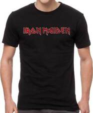 Iron Maiden Distressed Logo Heavy Thrash Metal Rock Music Band T Shirt IRM10735