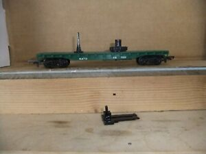 Tri-ang R.128 'NATO' helicopter Car with Lineside Switch, no copter, not boxed
