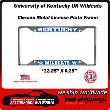 University of Kentucky UK Wildcats Chrome Auto Car License Plate Frame Border