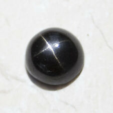 ROUND CABOCHON-CUT NATURAL INDIAN STAR-DIOPSIDE: SIZES AVAILABLE FROM 4mm - 14mm
