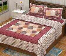 Cotton Rajasthani printed queen Size 1 Double Bedsheet With 2 Pillow Cover