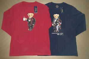 Polo Ralph Lauren Cocoa Duffel Bear T-shirt XL (18-20 youth) or men M or women L