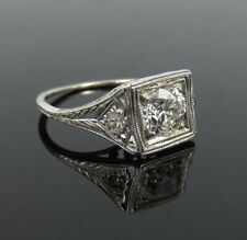 Art Deco 2 Ct White Round Diamond Antique Vintage Engagement Ring In 925 Silver