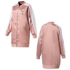 Puma Archive T7 Women's Zip Up Bomber Jacket Pink White 574978 31 A49C
