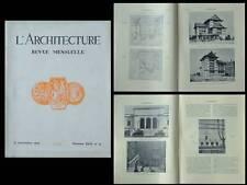 L'ARCHITECTURE 1929 MUSEE DETROIT, CRET, MAISON JAPON CITE UNIVERSITAIRE PARIS