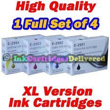4 HQ Ink for Epson XP-255 XP-257 XP-352 XP-355 XP-452 XP-455 29XL 1 Set Non OEM