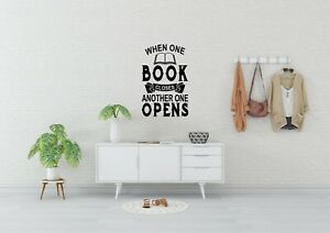 When One Book Closes Inspired Design Wall Art Reading Fun Decal Vinyl Sticker