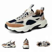 Mens Thick Bottom Lace Up Sports Athletic Shoes Outdoor Casual Sneaker Running D