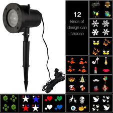 Clearance sale-LED Moving Sparkling Snowflake Light Projector Outdoor Landscape