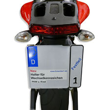 Wechsel-Kennzeichenhalter Motorrad / Quad / Trike  -NEU: Edelstahl-