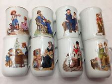 Vtg Norman Rockwell Coffee Cups Mugs Set of 8 Museum Collection, 1982