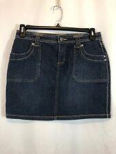 Daisy Fuentes Womens Size 6 Blue Short Denim Jean Skirt