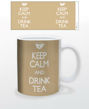 KEEP CALM & DRINK TEA 11 OZ COFFEE MUG TEALOVER TEA CUP TEATIME BEVERAGE HEMP!!!