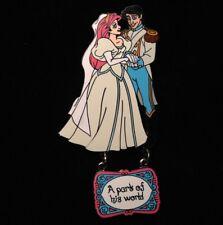 DISNEY PIN - Little Mermaid Bride ARIEL and PRINCE ERIC Wed Princess DLR Dangle