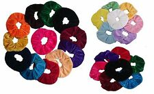 Lilac and Dusty Pink Velvet Look Hair Scrunchies Bobbles Mini Light Brown
