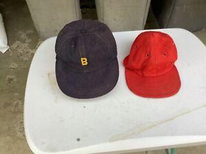 2 Vintage Little League Wool Baseball Hats Caps