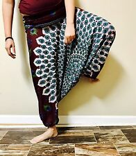US Women Harem Genie Aladdin Pants Casual Baggy Gypsy Loose Dance Yoga Trousers