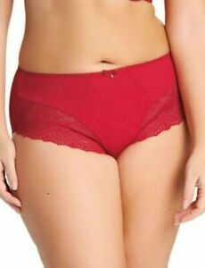 Elomi Tia Brief Panty Style EL 4285 Red with lace trim