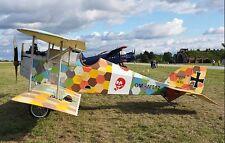 Aviatik Berg D.I Fighter Biplane Airplane Desktop Wood Model Small