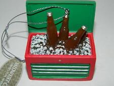 "Man Cave Xmas Ornament Toolbox Beer Lovers Cooler Decoration 3"" Tree New"