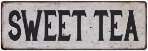 SWEET TEA Vintage Look Rustic Metal Sign Chic Retro 106180035066