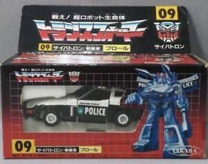 DIACLONE TAKARA TRANSFORMERS G1 PROWL 09 W/Box Popy Bandai Chogokin Takatoku