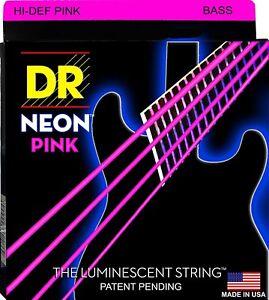 DR Bass Strings Neon Pink NPB-50 50-105 Medium