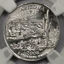 2008 D NGC MS64 Struck On Elliptical Planchet Arizona Quarter Mint Error Rare