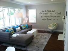 """HOME LAUGHTER WARMTH HOPE MEMORIES Wall Quote Lettering Words Decal Sticker 24"""""""