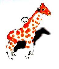 ENAMEL CRAFT ANIMAL GIRAFFE CHARM / PENDANT / JEWELLERY FINDINGS