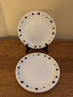 "SET OF 4 Corelle GEOMETRIC 8-1/2"" Luncheon Plates; EUC!"