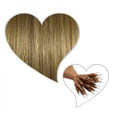 25 EXTENSIONES DE ANILLO Nano 35cm RUBIO CENIZO #18 Hebra cabello humano, Mejor